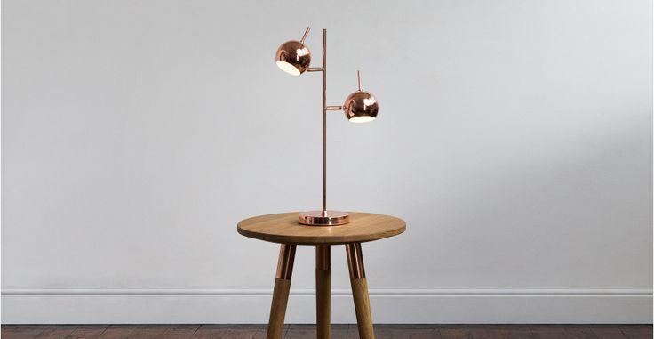 Austin, une lampe de bureau, cuivre | made.com