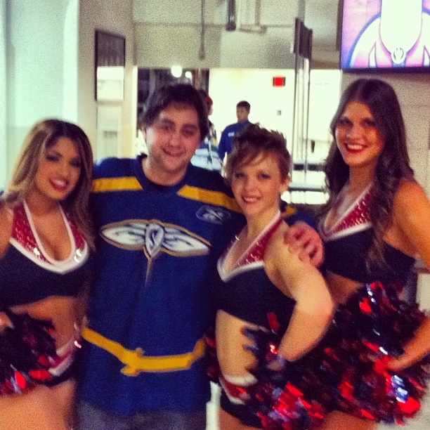 "@realtannerfresh's photo: ""#me and the #ladies at the #toronto #rock #lacrosse #game"""