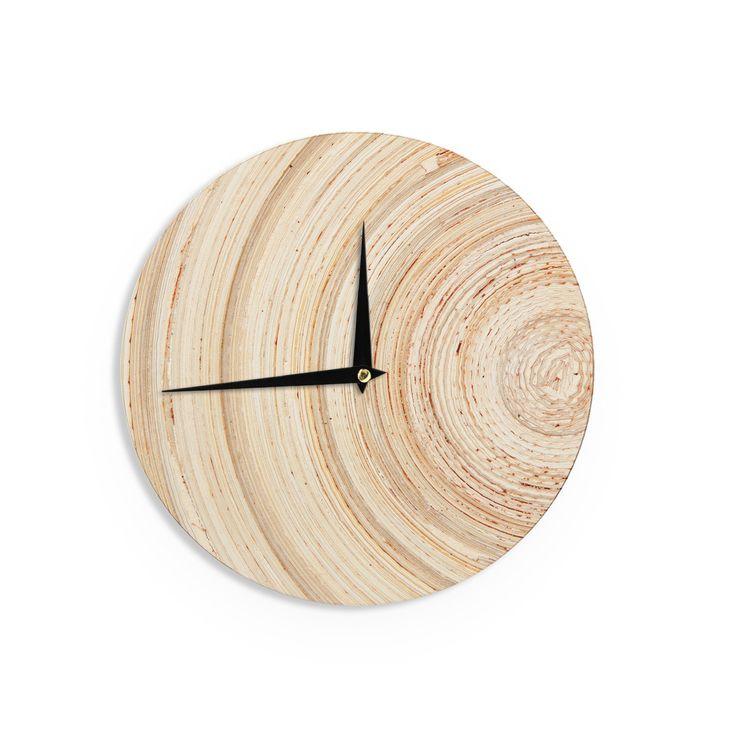 """Susan Sanders """"Ring of Life"""" Tan Beige Wall Clock"""