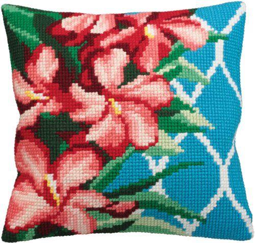 Collection D'art Hibiscus Pillow Cross Stitch Kit 15 3/4'X15 3/4' Collection D'art,http://www.amazon.com/dp/B007WDPPS0/ref=cm_sw_r_pi_dp_S21Nsb1KSSRCTCTB