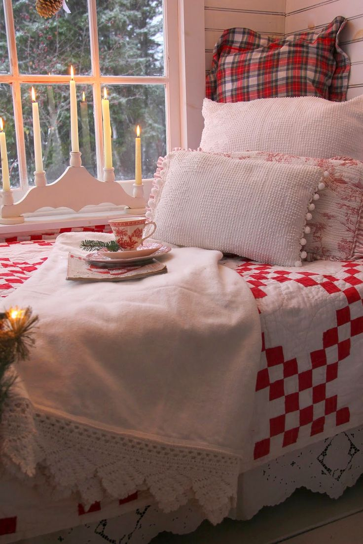"""""""A cup of tea and a Christmas magazine and I am ready to enjoy the nook."""" Aiken House & Gardens"""