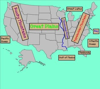 Best Homeschool Geography Maps Landforms Images On - Map of us landforms