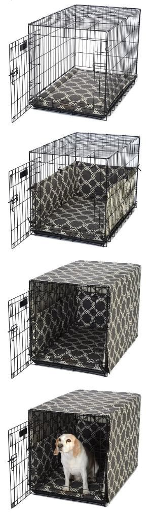 Dog Crate Cover and Padding Set · FelixChien.com by Morwen