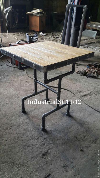 Мебель ручной работы. Ярмарка Мастеров - ручная работа. Купить стол для кафе. Handmade. Темно-серый, индустриальный стиль