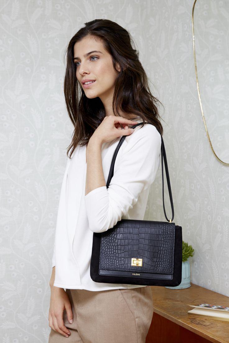 Numéro Deux - Édition Trio Noir -285€ www.polene-paris.com #handbag #fashionstyle #newbrand #parisianstyle #bagaddict #fashionista
