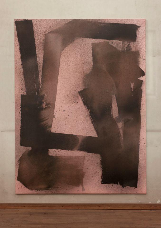 Max Frintrop, O.t. (Ewok) 200x150cm, mixed media on canvas, 2014 at A+B, Brescia
