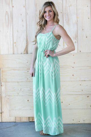 Darling Chevron Maxi Dress