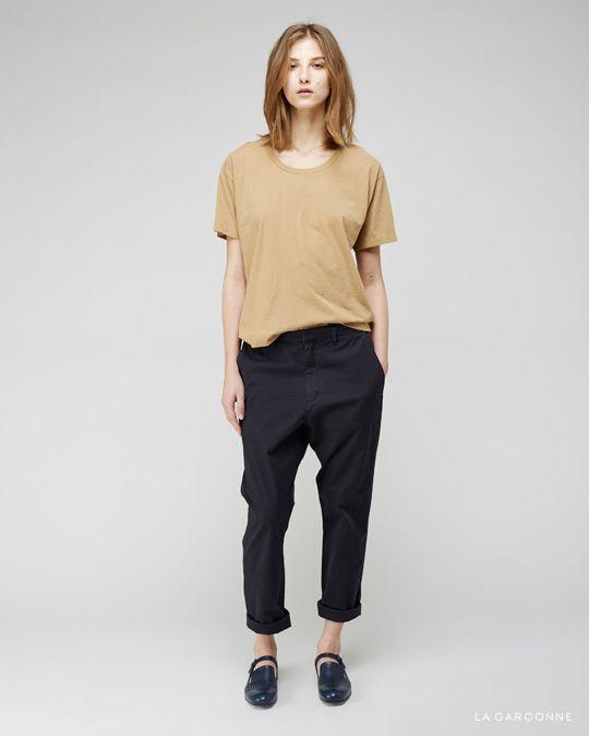 MHL by Margaret Howell / Loose T-Shirt  Hope / News Trouser Jil Sander / Mary Jane Loafer