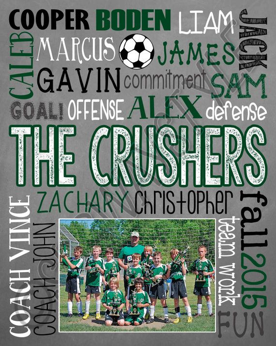 Soccer Coach Gift End of Season Soccer Team Gift by SubwayStyle