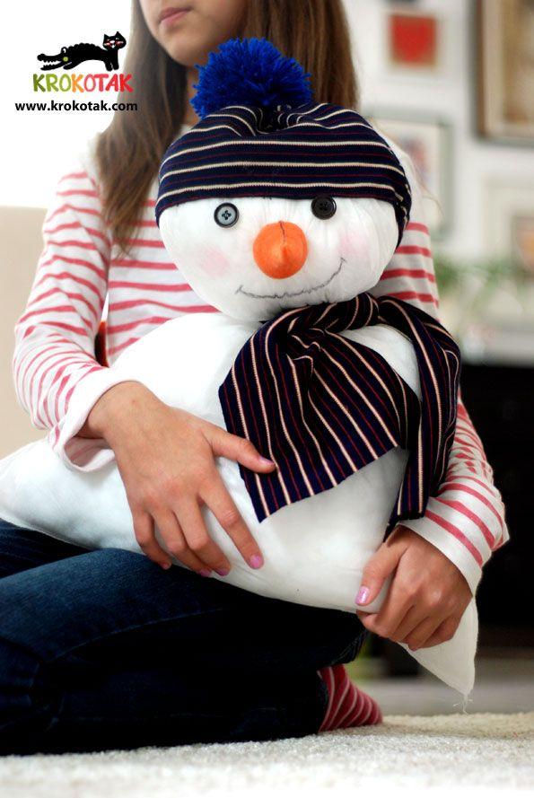 Snowman from a pillow (IKEA)