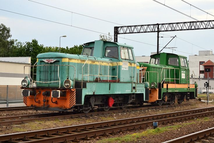 Fablok Diesel-electric Locomotive at   Słupsk in Poland
