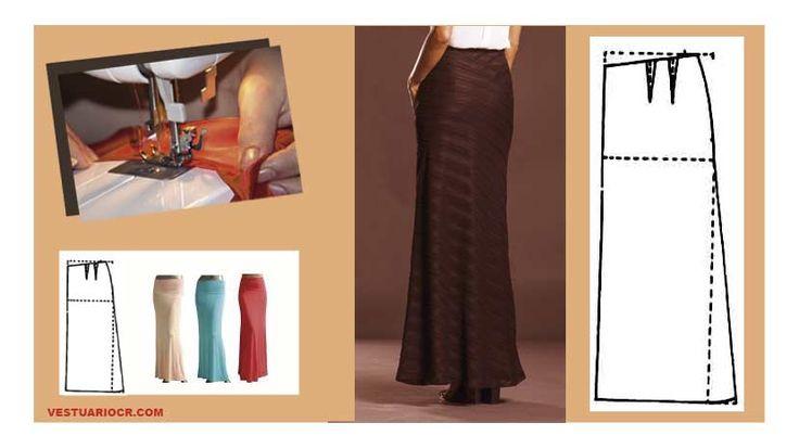 Las 25 mejores ideas sobre patrones de falda larga en - Disena tu casa gratis ...