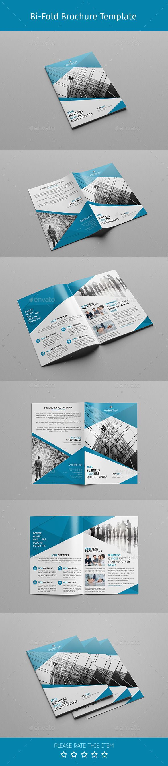 Multipurpose Corporate Bi-fold Brochure Template PSD #design Download…