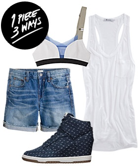 1 Piece, 3 Ways: How To Make The White Tank Anything But Basic #Refinery29
