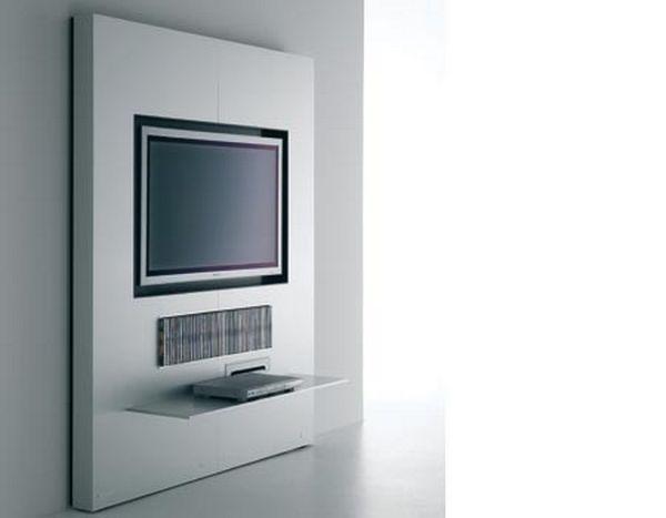 tv wall unit that hides tv mount