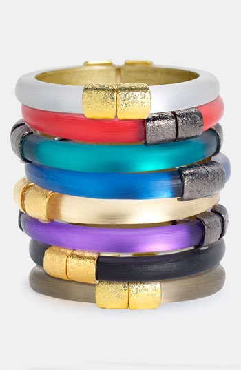 Alexis Bittar Metal Detail Small Hinged Bracelets