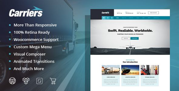 Carriers Transport Logistic Theme - Business Corporate