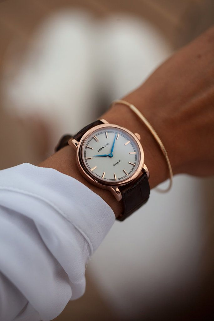 """""""I bought my boyfriend the men's version of this Corniche watch ($365) for his birthday, and every time he wears it, I want to steal it right off his wrist. Luckily, the brand just launched a women's line, and I'm obsessed with the blue, brown, and rose gold combination of this fresh style."""" — SW"""