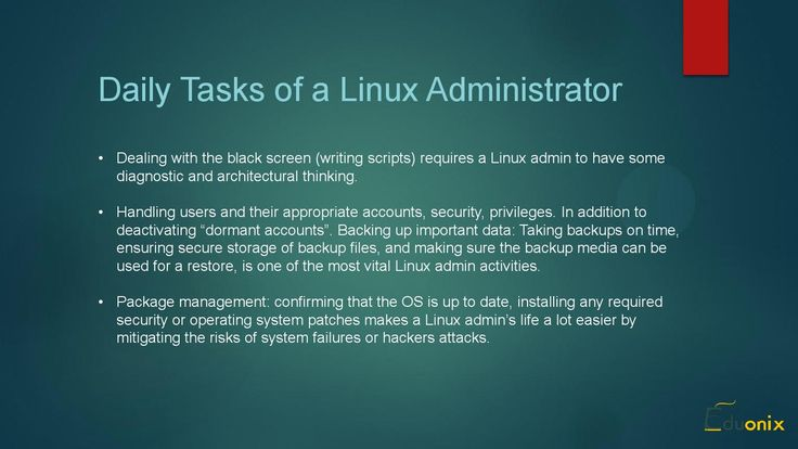 Linux Administrator - The Linux Course on Eduonix