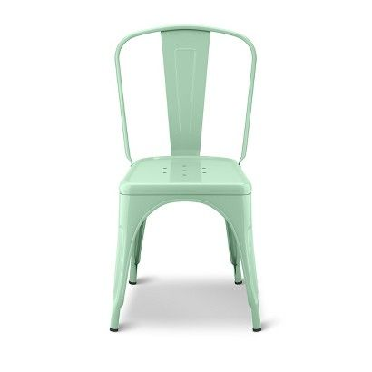 We got light green chairs sort of like this for the kids table in our playroom. It's so much fun to bring in color in the chairs.
