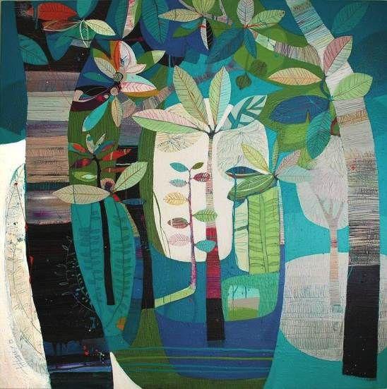"""Regeneration"" 130x130cm by Tiffany Calder Kingston at Tusk Gallery"