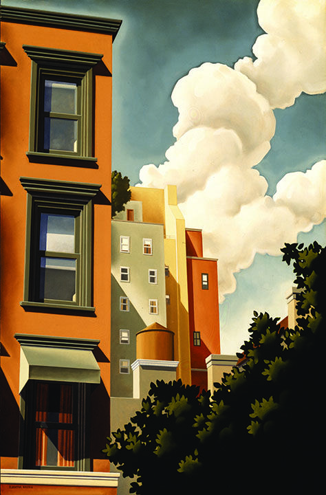 Clouds in the city...does anyone know who the artist is?