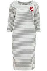 Follie di Garbo - gestreepte jurk met cijfer-opdruk