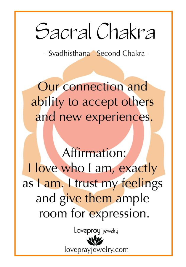 Check out our Second Chakra intention card, it comes with all of our second…