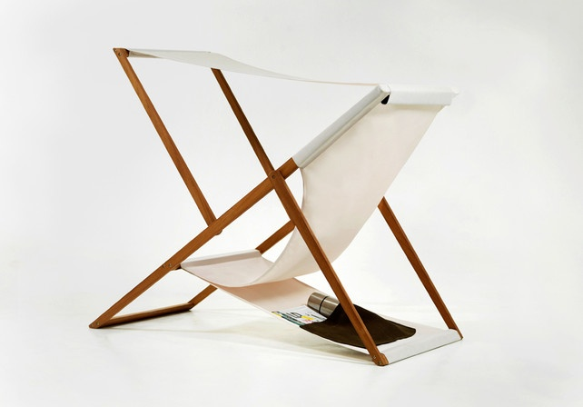 Clever Beach Chair Has Storage (And Shade) Built In