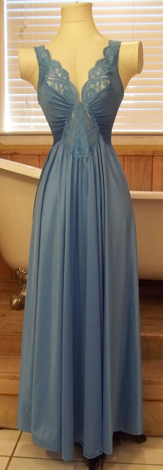 Vintage Olga Nightgown Spandex Bodice 150 by LaneysThisandThat,