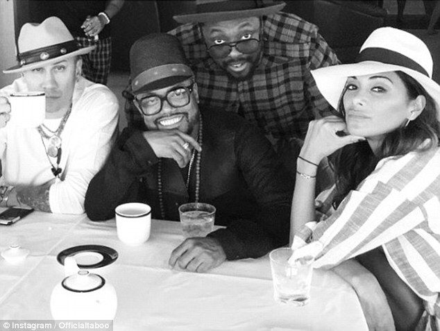 Who's your mates? Nicole has been hanging out with Black Eyed Peas members (from…