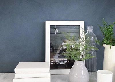 Kalkmaling (Lady minerals) - Til vegg bak tv i stuen.