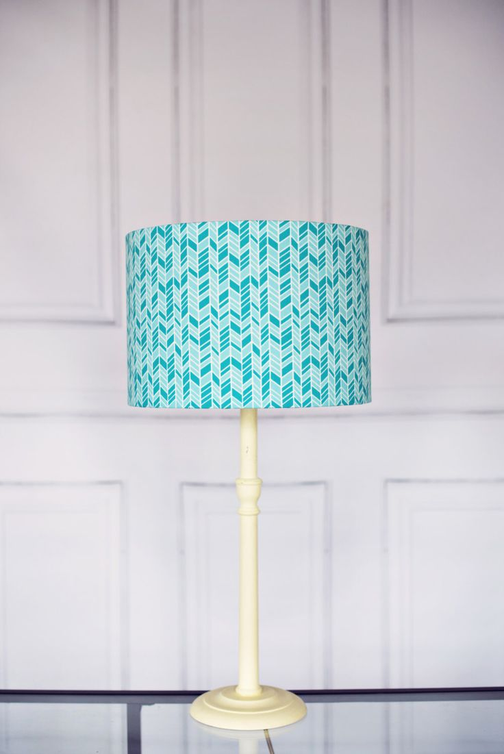 Orange and turquoise lamp shade - Turquoise Lampshade Blue Lamp Shade Teal Lampshade Drum Lampshade Modern Lamp Contemporary Lamps Fabric Lampshade Turquoise Lamp