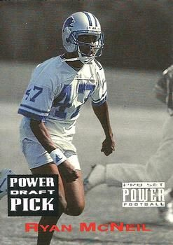 1993 Pro Set Power - Draft Picks #PDP80 Ryan McNeil  - Detroit Lions.