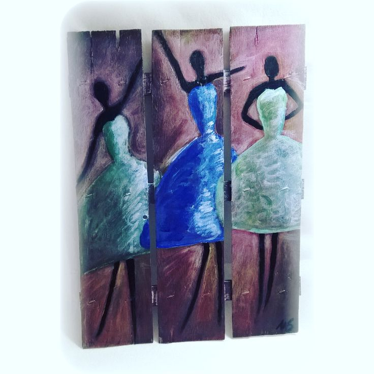 dipinto su legno Le danzatrici