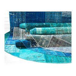 silkeborg teppich kurzflor blau rugs and ikea. Black Bedroom Furniture Sets. Home Design Ideas