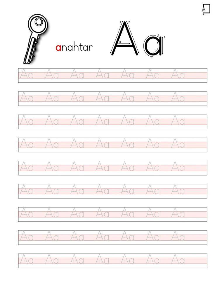 A Harfi çalışma Kağıdı Düz Yazı Ile Ilgili Görsel Sonucu