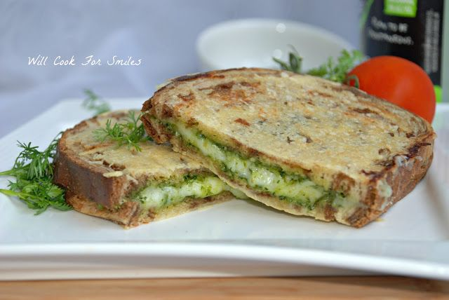 parmesan crusted pesto grilled cheese pesto grilled cheeses lunch ...