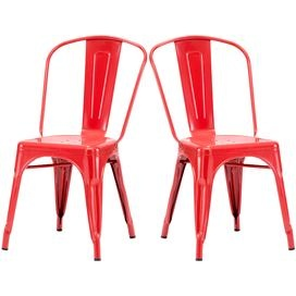 Elio Side Chair in Red