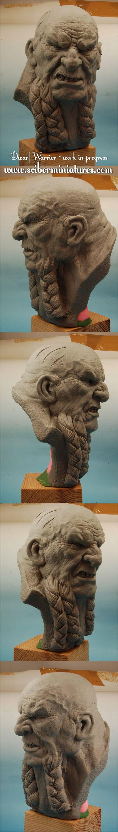 Dwarf Warrior bust - work in progress