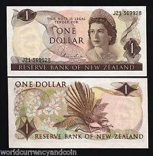 NEW ZEALAND $1 P163d 1977 QUEEN RUNNING # UNC BIRD CURRENCY MONEY BILL LOT 10 PC