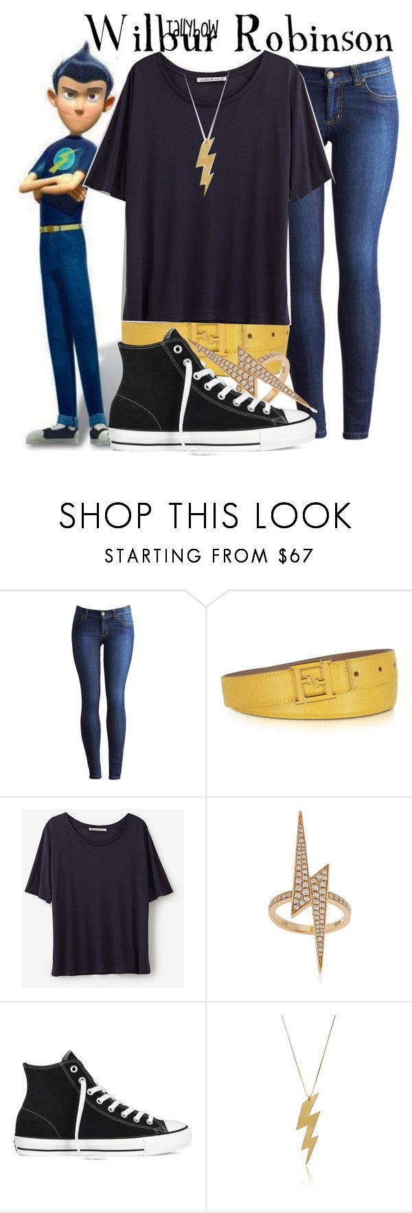 """Wilbur Robinson"" by tallybow ❤ liked on Polyvore featuring Joules, Fendi, Acne Studios, Anita Ko and Converse"