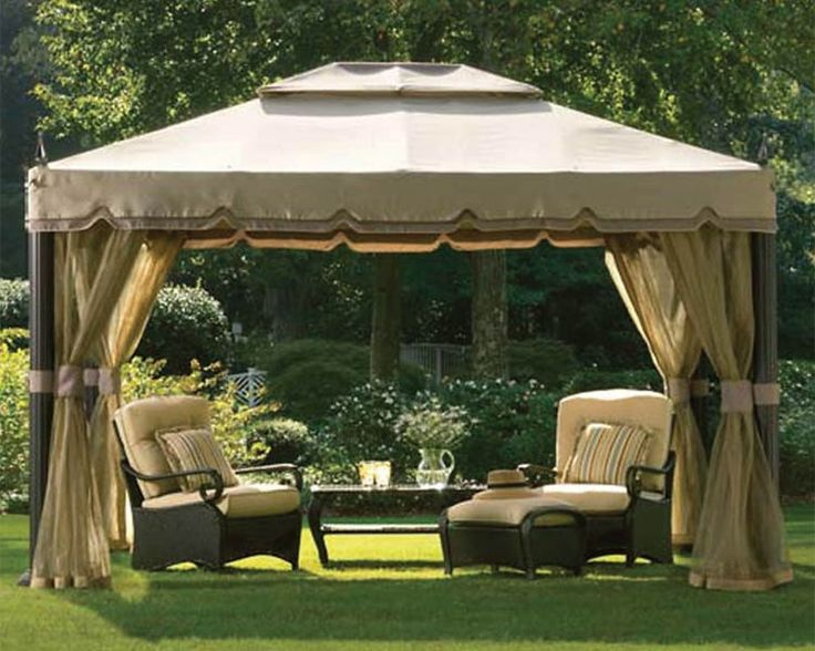 Block out the hot sun and bothersome bugs with a screened canopy.  Photo courtesy of Home Depot