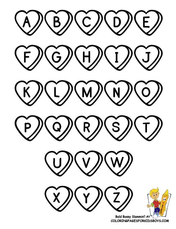 Printable Letters Alphabets Coloring Page Alphabet Pages