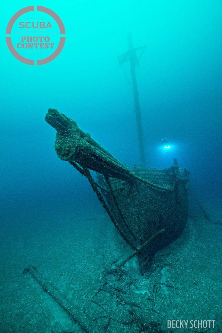 Shipwreck Underwater Scuba Diving Photo