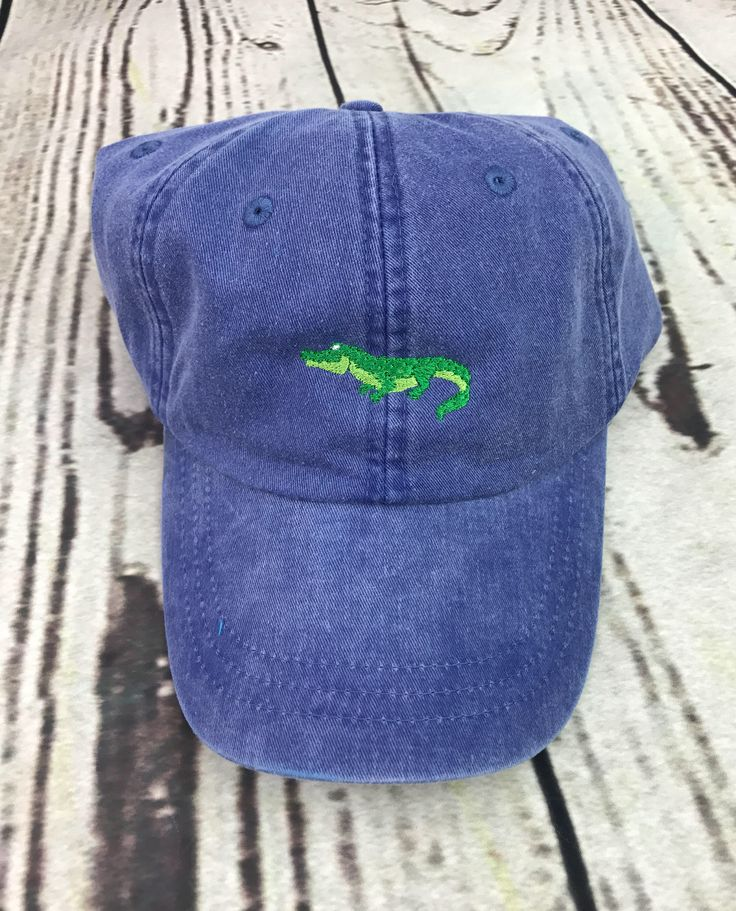 Gator hat, alligator baseball hat, gator baseball cap, Pigment dyed hat, Beach hat, Nautical hat, Spring break hat, alligator cap by CosyDesignscd on Etsy https://www.etsy.com/listing/517142288/gator-hat-alligator-baseball-hat-gator