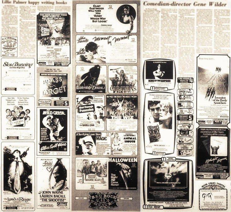 Las Vegas local movie listings, December 1978.