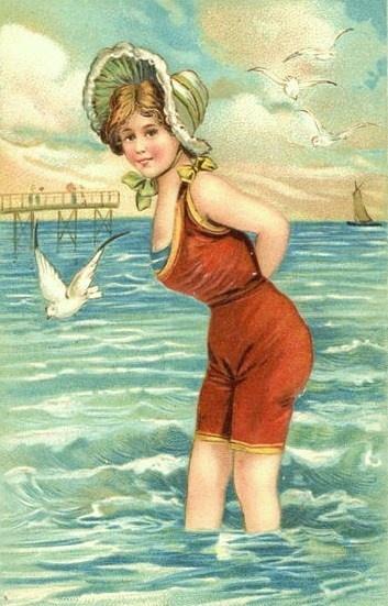 Открытки ретро на море