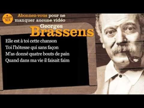 Vidéo 3'06 - CHANSON POUR L'AUVERGNAT - Georges Brassens - 1954 - https://www.youtube.com/watch?v=2ZHVdQGhd8M
