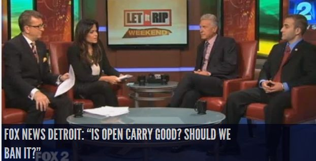 """Fox News Detroit: """"Is Open Carry Good? Should We Ban It?"""" INFOWARS.COM BECAUSE THERE'S A WAR ON FOR YOUR MIND"""